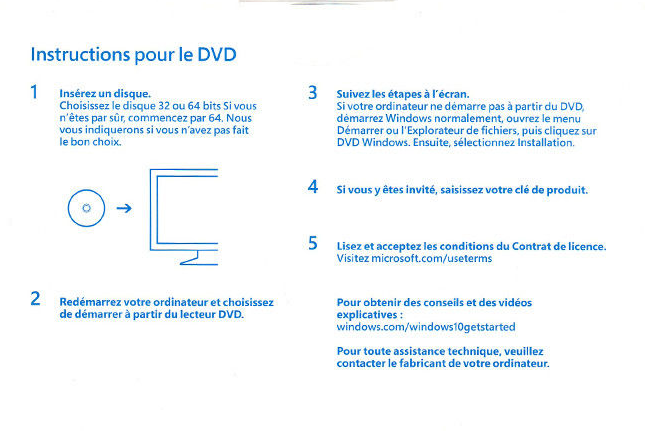 Microsoft Windows 10 Pro 64 Bit 32 Bits Key/Clave -Licencia 100% Original French