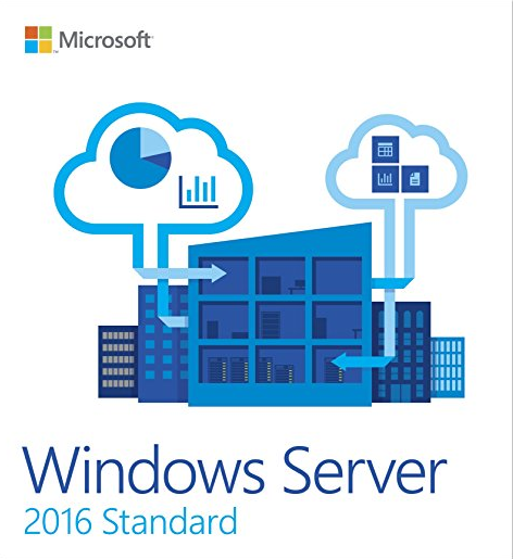 English Windows Server 2016 Standard 64 Bit 1 Pack DSP 16 Core Online Activation